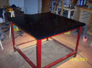 First coat of paint on the KRMx01 table top.