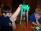 Playing with the slime