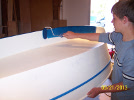 Painting the Keel and Bottom.