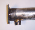 Burner tube side view