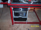 KRMx01 electronics drawer with drawer front installed and in rack.