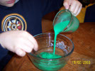 Mixing the glue with teh borax water